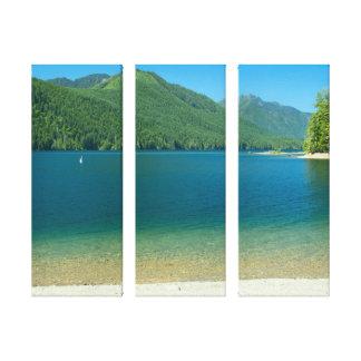 Lake Cushman Summer 3-Panel Canvas
