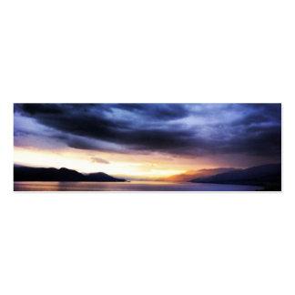 Lake Dark Blue clouds Sky Bookmarm Mini Business Card