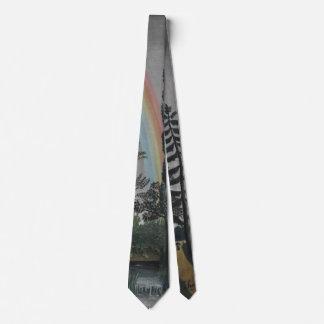 Lake Daumesnil by Henri Rousseau, Vintage Fine Art Neck Tie