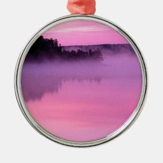 Lake Dawn Ensign Boundary Waters Canoe Area Metal Ornament