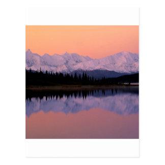Lake Denali Sunrise Wonder Alaska Postcard