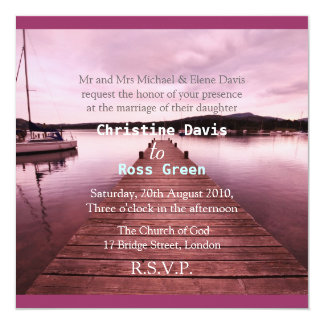 Lake Disctrict, personalized wedding invitation