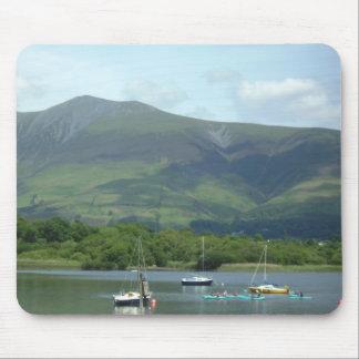 Lake District Mountain boats Mouse Pad