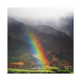 Lake District Rainbow Canvas Canvas Print