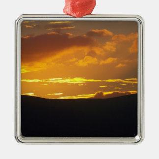 Lake District sunset Metal Ornament
