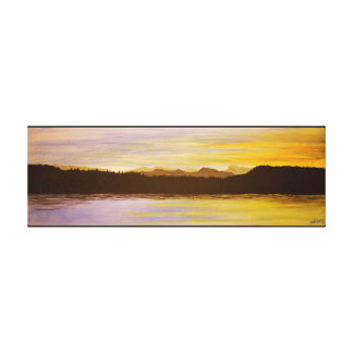 Lake District Sunset Painting by Heidi Piercy Canvas Print