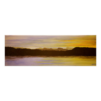 Lake District Sunset Painting by Heidi Piercy Poster