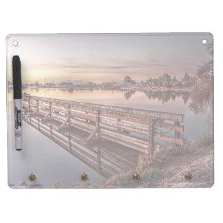 Lake Dock at Sunrise Dry Erase Board