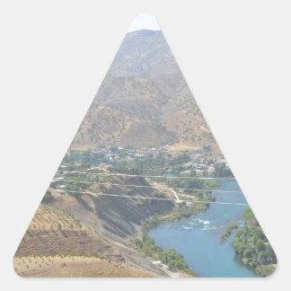Lake Ducan4 Triangle Sticker