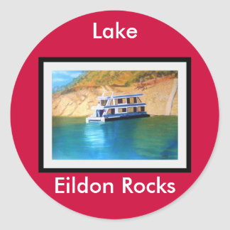 Lake Eildon Round Sticker