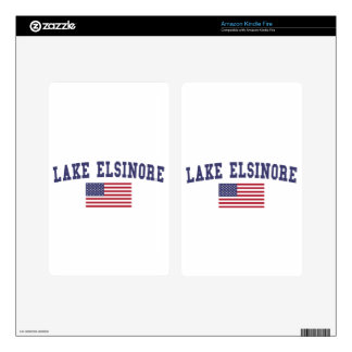 Lake Elsinore US Flag Skins For Kindle Fire