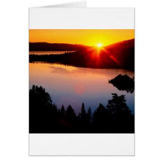 Lake Emerald Bay Tahoe Sunset Greeting Cards