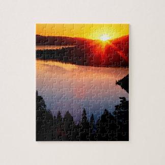 Lake Emerald Bay Tahoe Sunset Puzzle