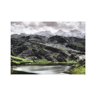 Lake Ercina in Asturias, Spain Canvas Print