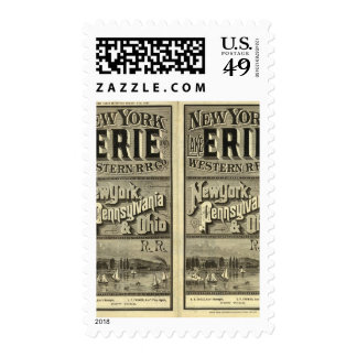 Lake Erie and Western Railroad Stamp