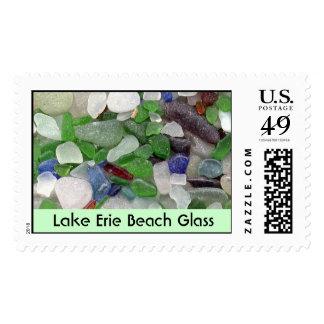 Lake Erie Beach Glass Postage Stamp