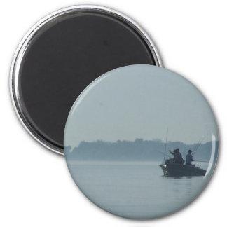 Lake Erie Fisherman 2 Inch Round Magnet