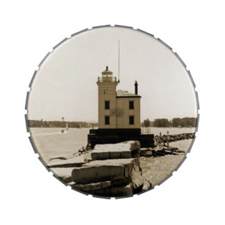 Lake Erie Lighthouse Candy Tin