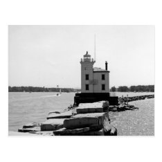 Lake Erie Lighthouse Postcard at Zazzle