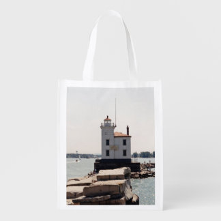 Lake Erie Lighthouse Reusable Grocery Bag