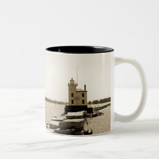 Lake Erie Lighthouse Two-Tone Coffee Mug