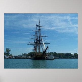 Lake Erie Old Ship Poster