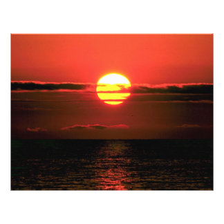 Lake Erie sunset, Upstate New York, U.S.A. Flyer