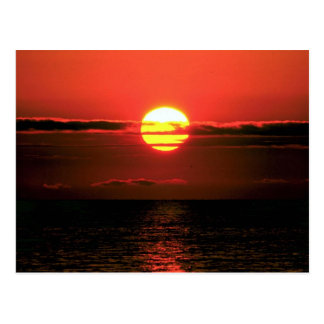 Lake Erie sunset, Upstate New York, U.S.A. Postcard