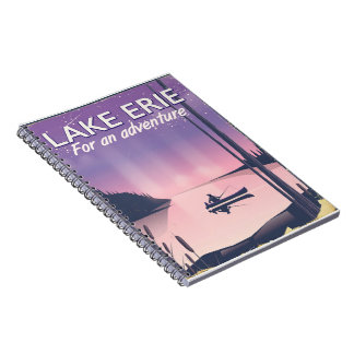 Lake Erie travel poster Notebook