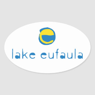Lake Eufaula Oval Sticker