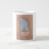 Lake Eyre Australia map poster
