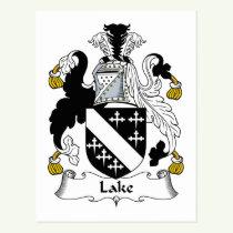 Lake Family Crest Postcard