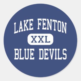 Lake Fenton - Blue Devils - High - Linden Michigan Classic Round Sticker