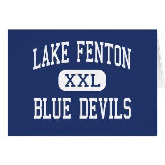 Lake Fenton - Blue Devils - High - Linden Michigan Greeting Card
