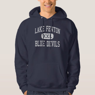 Lake Fenton - Blue Devils - High - Linden Michigan Hooded Sweatshirts
