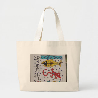 Lake Fish Fossils Tote Bag