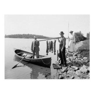 Lake Fishing in the Adirondacks, 1903 Postcard