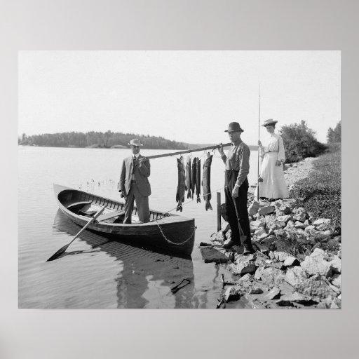 Lake Fishing in the Adirondacks, 1903 Poster
