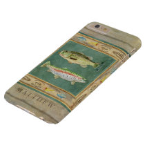 Lake Fishing, Large Mouth Bass, Rainbow Trout Mens Barely There iPhone 6 Plus Case