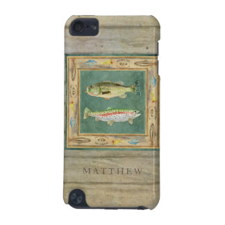 Lake Fishing, Large Mouth Bass, Rainbow Trout Mens iPod Touch (5th Generation) Covers