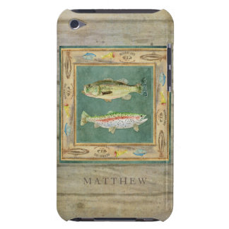 Lake Fishing, Large Mouth Bass, Rainbow Trout Mens Case-Mate iPod Touch Case