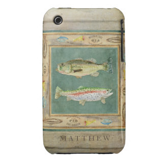 Lake Fishing, Large Mouth Bass, Rainbow Trout Mens iPhone 3 Cover