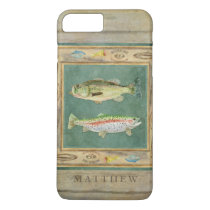 Lake Fishing, Large Mouth Bass, Rainbow Trout Mens iPhone 7 Plus Case