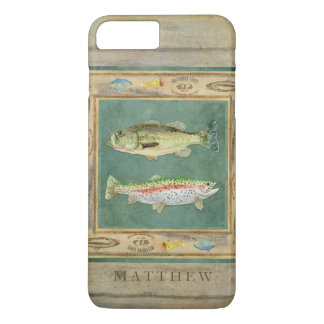 Lake Fishing, Large Mouth Bass, Rainbow Trout Mens iPhone 8 Plus/7 Plus Case