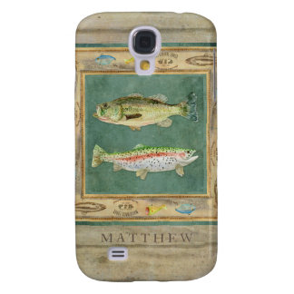 Lake Fishing, Large Mouth Bass, Rainbow Trout Mens Samsung Galaxy S4 Case