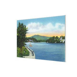 Lake Flower, Scarface Mt in Distance Gallery Wrap Canvas