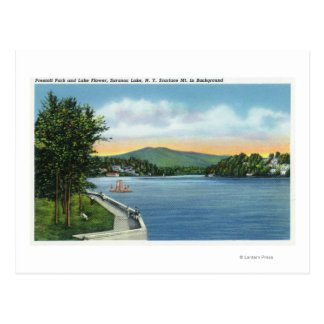 Lake Flower, Scarface Mt in Distance Postcard