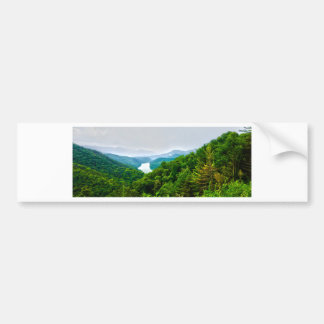 lake fontana aerial great smoky mountains north bumper sticker
