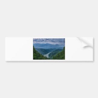 lake fontana aerial great smoky mountains north ca bumper sticker