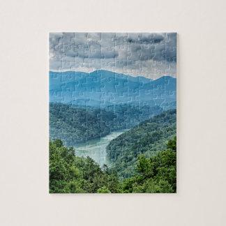 lake fontana aerial great smoky mountains north jigsaw puzzle